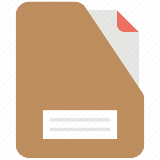 data record, document, file, file folder, official files icon