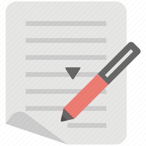 business document, compose, note, send mail, texting icon