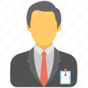 assistant, employee, manager, office employee avatar, office worker icon