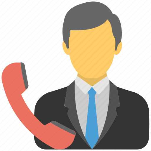 business call, official call, telecommunication, telephone operator, telephonist icon