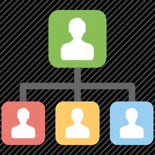 People hierarchy, organizational chart, leadership, corporate hierarchy, hierarchy team icon