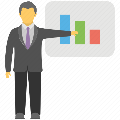 business analysis, business graph, flip chart analytics, graphic presentation, statistics icon