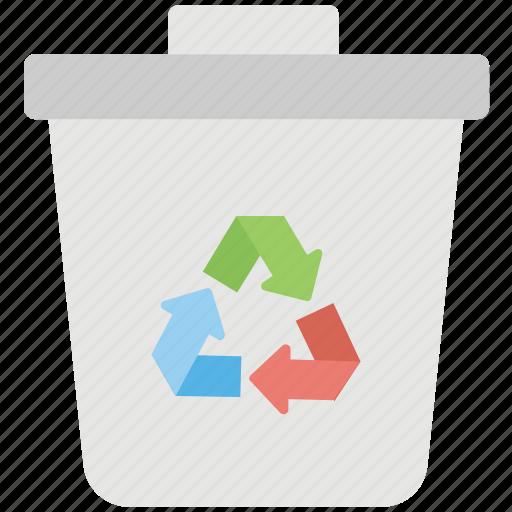 bin, can, recycle, trash icon