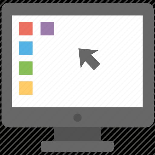computer, computer screen, desktop, pc, screen background icon