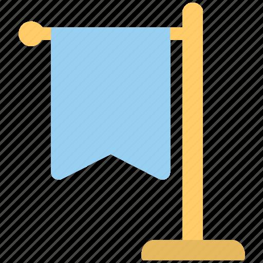 banner flag, ensign, flag, flag pole, table flag icon