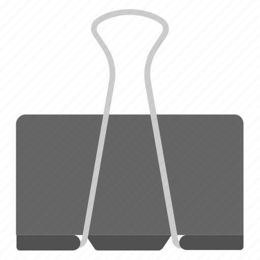 binder, clipper, fastener, paper clip, stationery icon