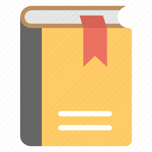 daybook, diary, diary with bookmark, journal, logbook icon