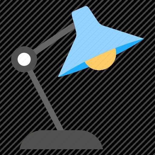 arc light, desk lamp, desk light, study light, table lamp icon