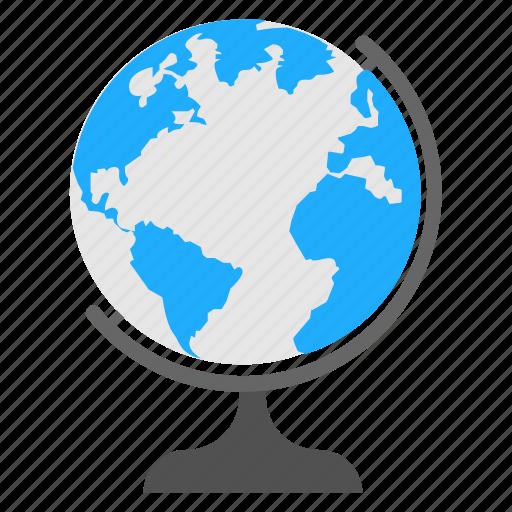 desk globe, earth globe, globe, school globe, table globe icon