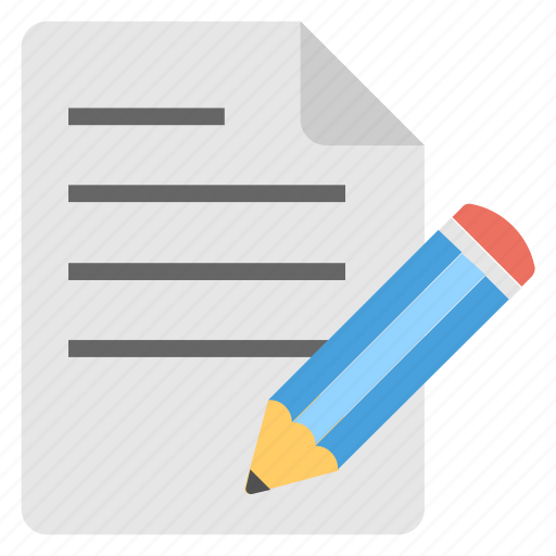 article, authorship, composition, writing, written material icon
