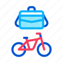 bicycle, business, case, office, table, transportation, water