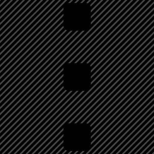architecture, dots, estate, home, menu, small, vertical icon