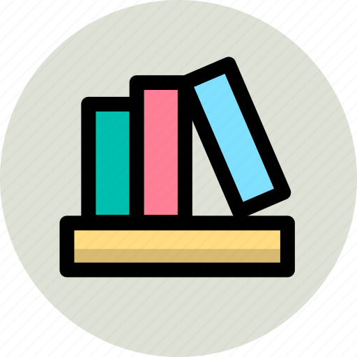 books, business, knowledge, office icon