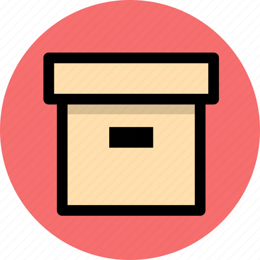 archive, box, business, office icon