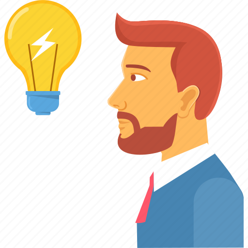 bulb, business, idea, innovative, power, process, thought icon
