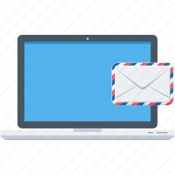communication, email, inbox, laptop, mail, message icon