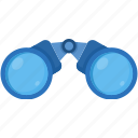 binocular, binoculars, explore, find, search, seo, spyglass icon