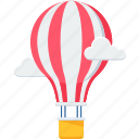 air balloon, balloon, balloons, cloud, hot air balloon, parachute, sky icon