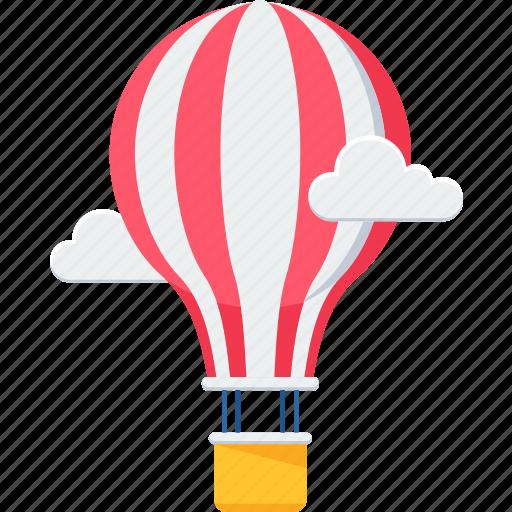 air balloon, balloon, balloons, cloud, hot air balloon, parachute, sky icon