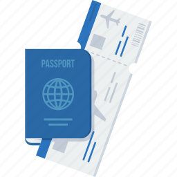 business, card, id, passport, proof, travel, visa icon