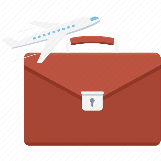 abroad, bag, briefcase, business, tour, travel icon