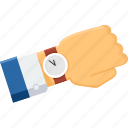 business, clock, schedule, time, wait, watch, wrist watch icon