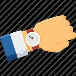 business, clock, schedule, time, wait, watch, wrist watch icon