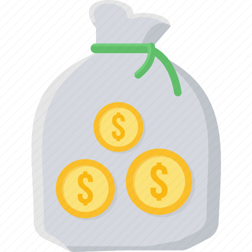 bag, finance, invest, investment, money bag, moneybag icon