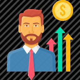 appraisal, employee, increament, increase, performance, salary icon