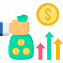 analytics, business, net sales, profit, revenue, sale, sales icon