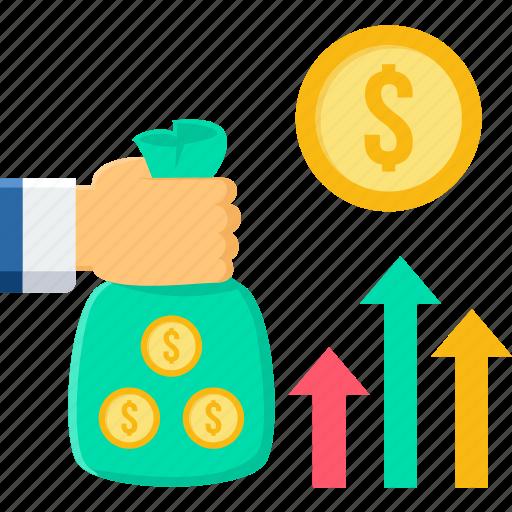 analytics, business, net sales, profit, revenue, sale, sales icon