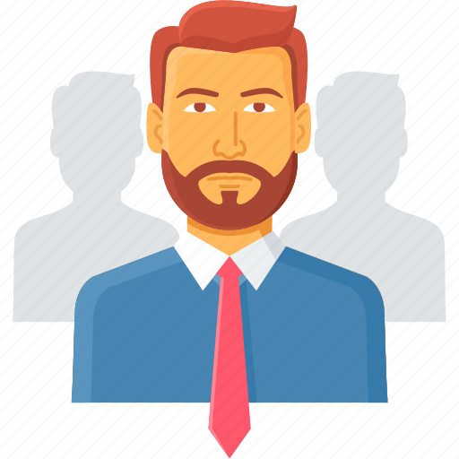 account, client, head, manager, people, profile, user icon