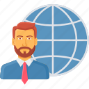 business, country, head, international, office, representative, worldwide icon