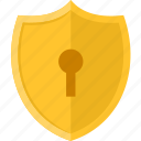 key, lock, password, protection, safe, security, shield icon