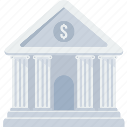 bank, banking, financial institution, house, stock, treasury icon