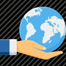 business, global, globe, guardar, save, save earth, work, world icon