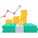 business, increase, net, profit, revenue, sales, up icon