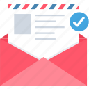 email, envelope, inbox, increment letter, letter, message icon