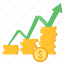 increase, profit, progress, revenue, sales, top, up icon
