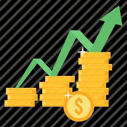 increase, profit, progress, revenue, sales, top, up icon