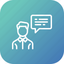 chatting, communication, conversation, employee, talk icon