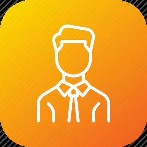 avatar, businessman, employee, man, manager, worker icon