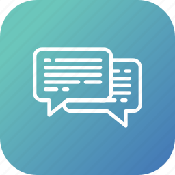 chatting, communication, conversation, help icon