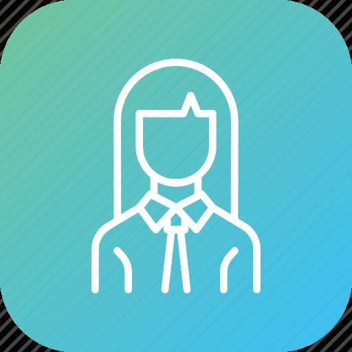 avatar, businesswoman, employee, office, woman, worker icon