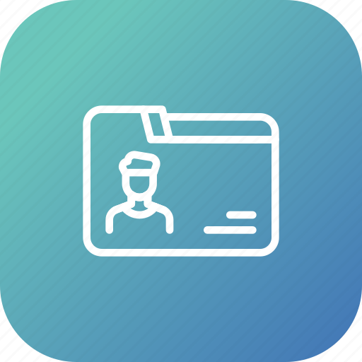 collection, data, detail, employee, folder icon