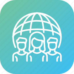 client, community, international, remote, social, work, world icon