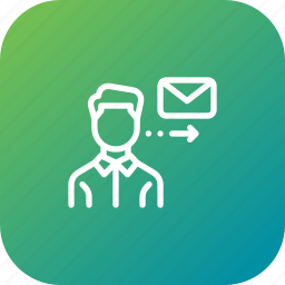 employee, job, letter, mail, message, send icon