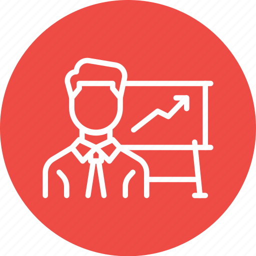 chart, employee, graph, growth, performance icon