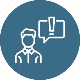 chatting, communication, confuse, conversation, employee, think icon