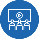 call, conference, meeting, presentation, video icon